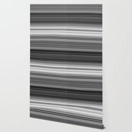 Black White Gray Thin Stripes Wallpaper