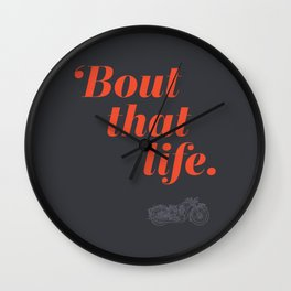 Bout that life: Motorcycles Wall Clock
