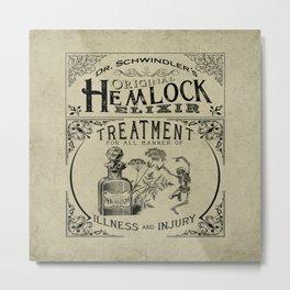 Dr. Schwindler's Original Hemlock Elixir Metal Print