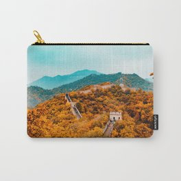 The Great Wall of China in Autumn (Color) Carry-All Pouch