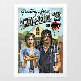 Greetings from Carol's Art Print