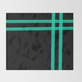 Mint Strip Throw Blanket