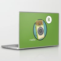 transistor Laptop & iPad Skins featuring Transistor Radio Flash Card by paper moon projects