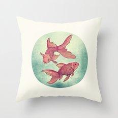 Goldfishes Throw Pillow