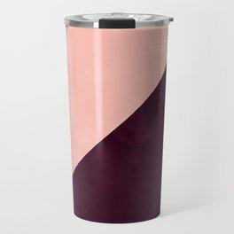 Modern blush pink burgundy watercolor color block geometric Travel Mug