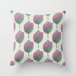 crepe myrtle pattern Throw Pillow