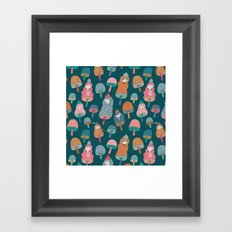 Pattern Project #49 / Mushroom Girls Framed Art Print