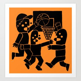Basketball by Swirvington Art Print