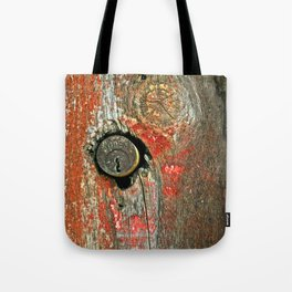 Weathered Wood Texture with Keyhole Tote Bag