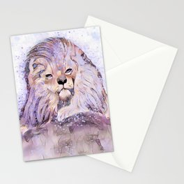 Lion Whimsy Stationery Cards
