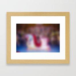 Carousel sleigh in Glow Framed Art Print