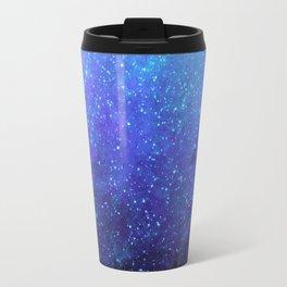 Blue Heavens: Vibrant Starfield Travel Mug