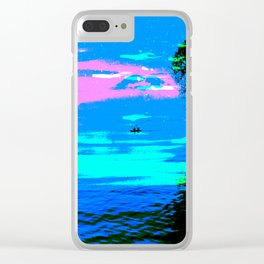 Canoes on Lake Atítlan, Guatemala Clear iPhone Case