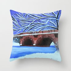 Stone bridge 2 Throw Pillow