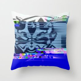 Glitchy Maul Throw Pillow