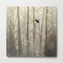 Transcending The Fall - Dark Crows Series Metal Print