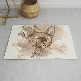 Watercolor Sphynx (Sepia/Coffee stain) Rug