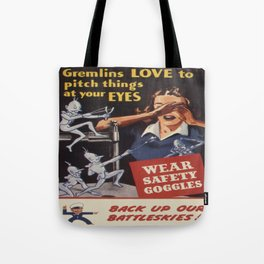Vintage poster - Workplace safety Tote Bag