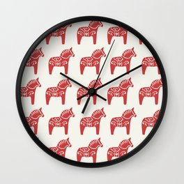 Dala Horse Wall Clock