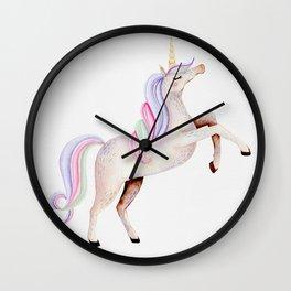 Rainbow Unicorn Wall Clock