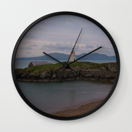 View Towards Twr Bach Lighthouse Wall Clock