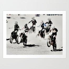 The Race is On  - Motocross Racers Art Print