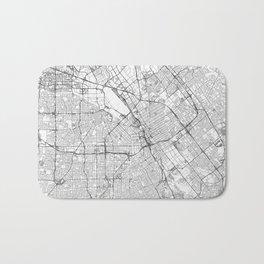 San Jose Map Line Bath Mat