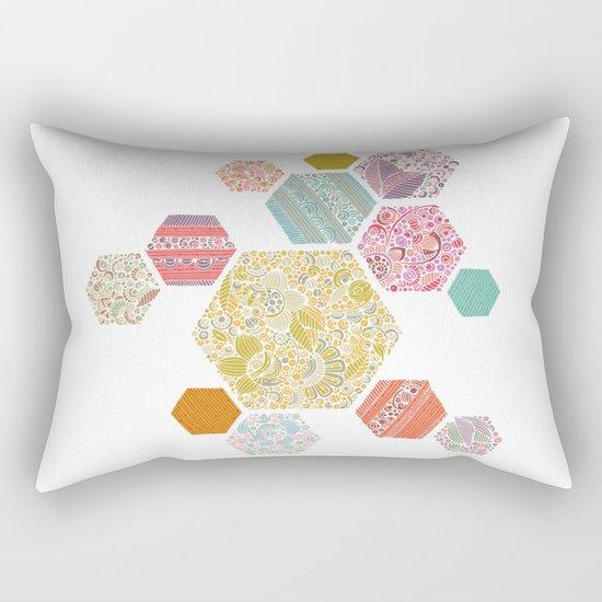 Summer honeycomb Rectangular Pillow