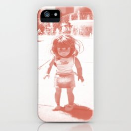 Hello (red) iPhone Case