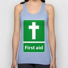 First Aid Cross - Christian Sign Illustration Unisex Tank Top