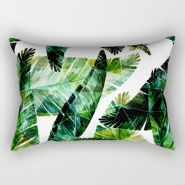 Green leaves of a banana. 2 Rectangular Pillow