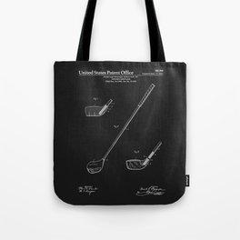 Golf Club Patent - Black Tote Bag