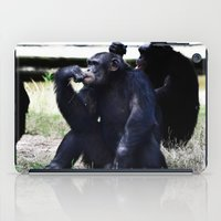 planet of the apes iPad Cases featuring Social Apes by 100 Watt Photography