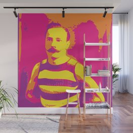 Frenchman With a Handlebar Mustache Wall Mural