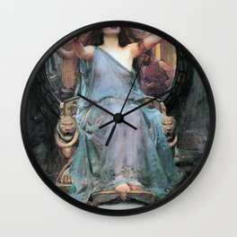 John William Waterhouse - Circe Offering The Cup To Odysseus - Digital Remastered Edition Wall Clock