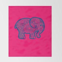 POP-ART Mandala Elephant Art Throw Blanket