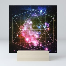 Rainbow Galaxy Sacred Geometry : Golden Rectangles Mini Art Print