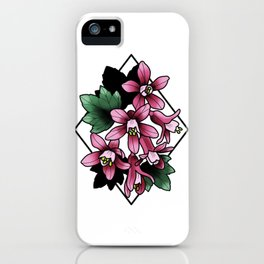 Red Flowering Currant iPhone Case