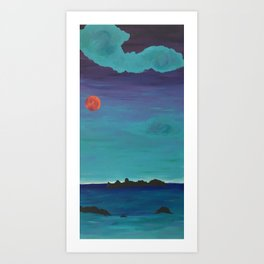 Under a Caribbean Moon Art Print