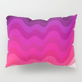 Retro Ripple in Pinks Pillow Sham