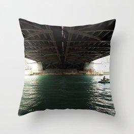 Under the Bridge Throw Pillow
