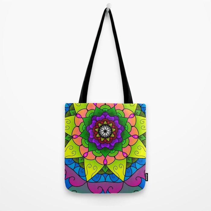 Cheerful mandala Tote Bag