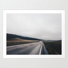 Entrance Road - Grand Canyon North Rim Art Print