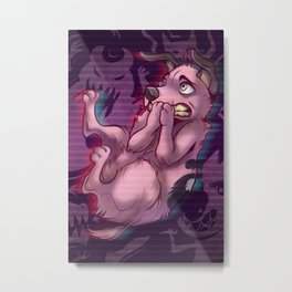 Courage the cowardly dog Metal Print