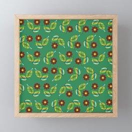 Foliage and flowers Framed Mini Art Print