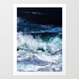 Dark Blue Waves Art Print