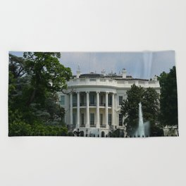 South Portico of the White House Washington DC Beach Towel