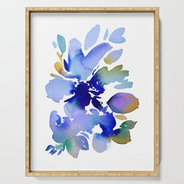 Abstract Water Colour Flo Serving Tray