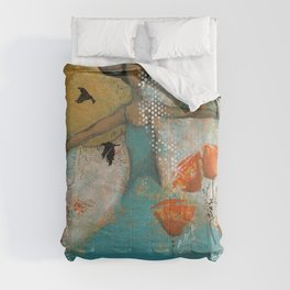 Floating. African American Art, Black Art, Women, Girls, Female Comforters