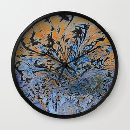 Psychedelic Sun Set. Wall Clock